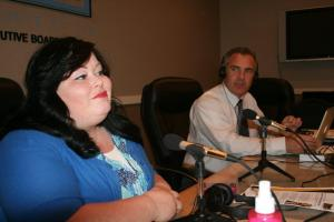 Monika Gable and HWE producer Tony Jewkes